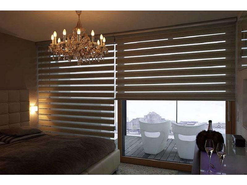 Рулонные шторы с тканью зебра