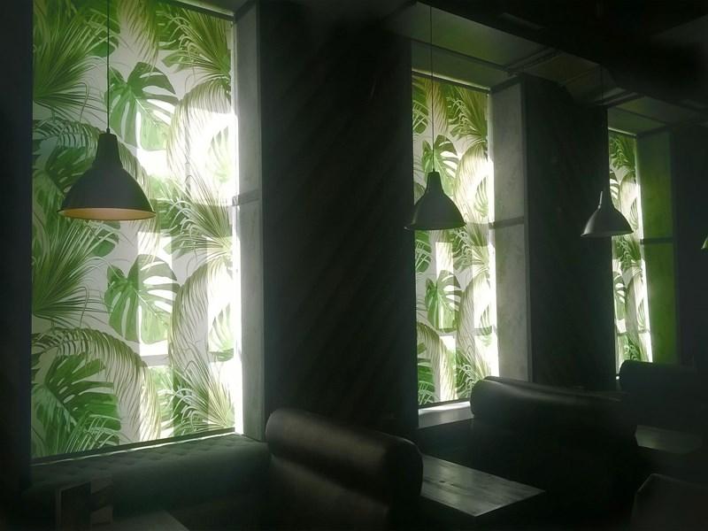 Рулонные шторы с рисунком на окна фото