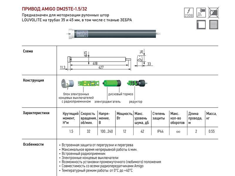 Эл. Привод переменного тока для LVT 35 и 45