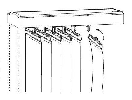 Установка вертикальных жалюзи