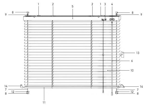 Установка горизонтальных жалюзи Холис 16,25 мм