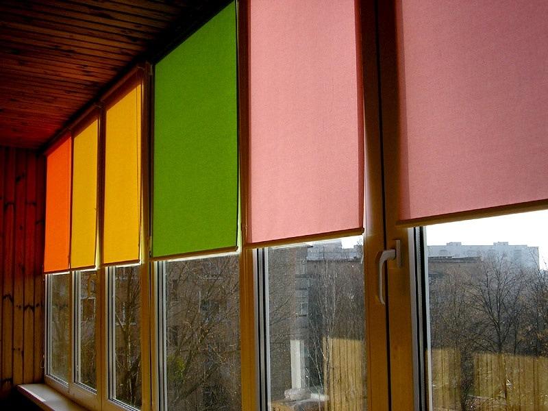 Рулонная штора Mini - День - ночь (Зебра) на балкон