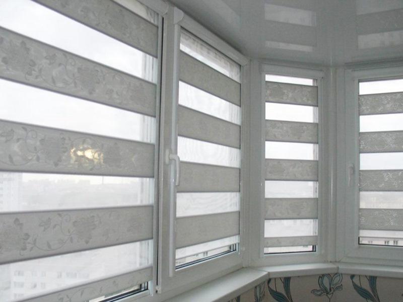 Рулонная штора Uni2 зебра