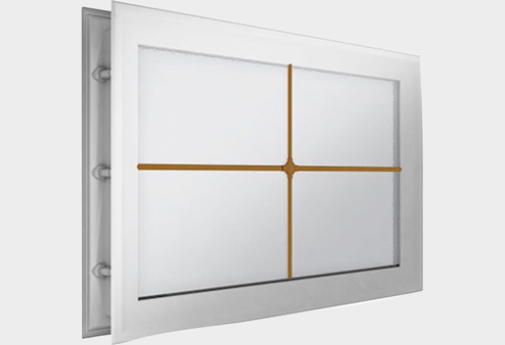 Окно акриловое 452 х 302, белое с раскладкой «крест» (арт. DH85627)