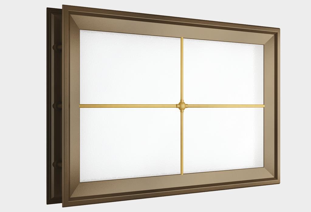 Окно акриловое 452 х 302, коричневое с раскладкой «крест» (арт. DH85628)