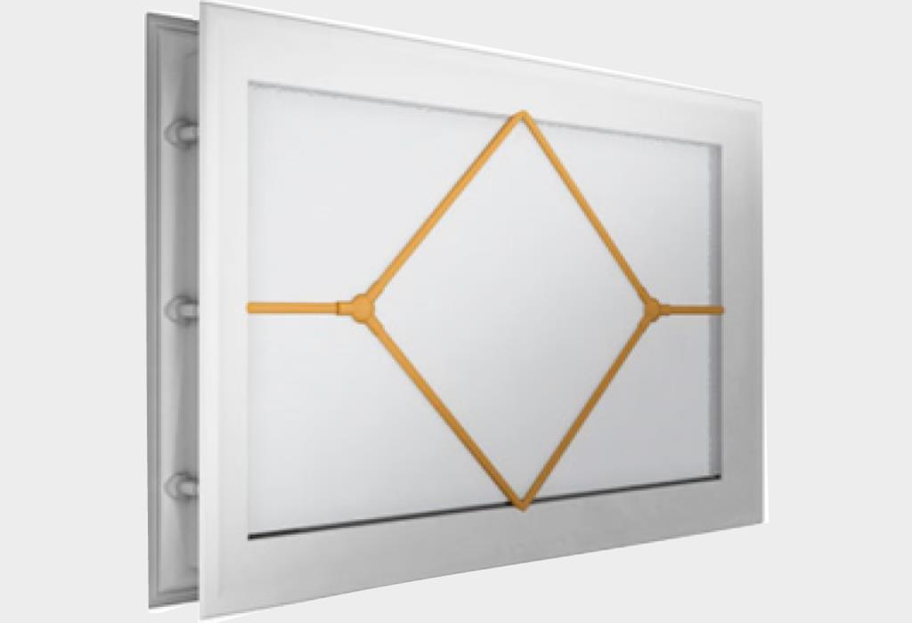 Окно акриловое 452 х 302, белое с раскладкой «ромб» (арт. DH85629)