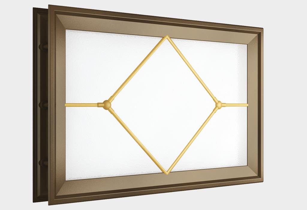 Окно акриловое 452 х 302, коричневое с раскладкой «ромб» (арт. DH85630)