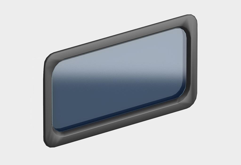 Окно акриловое 627 х 327, черное, промышленное (арт. DH85603)