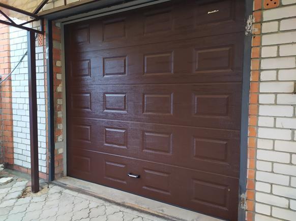 Ворота - Полотно филенка, цвет коричневый 8017