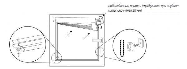Схема монтажа Венус