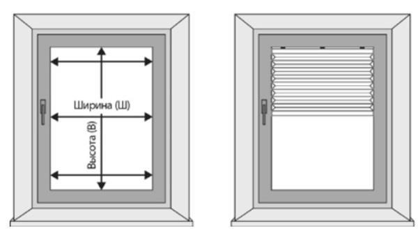 монтаж по контуру стекла (внутрь штапика)