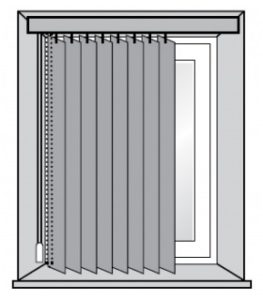 Вертикальные жалюзи установка в проем