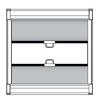 2 изделия, короб 1 сверху - короб 2 снизу
