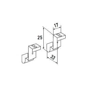 Накидные кронштейны ПВХ нижние для боковой фиксации (металлические)