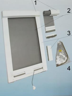 Конструкция рулонной москитной сетки